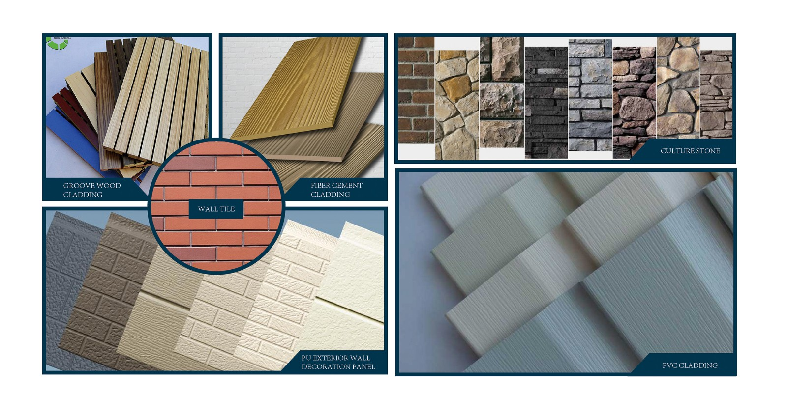 Exterior wall decoration material