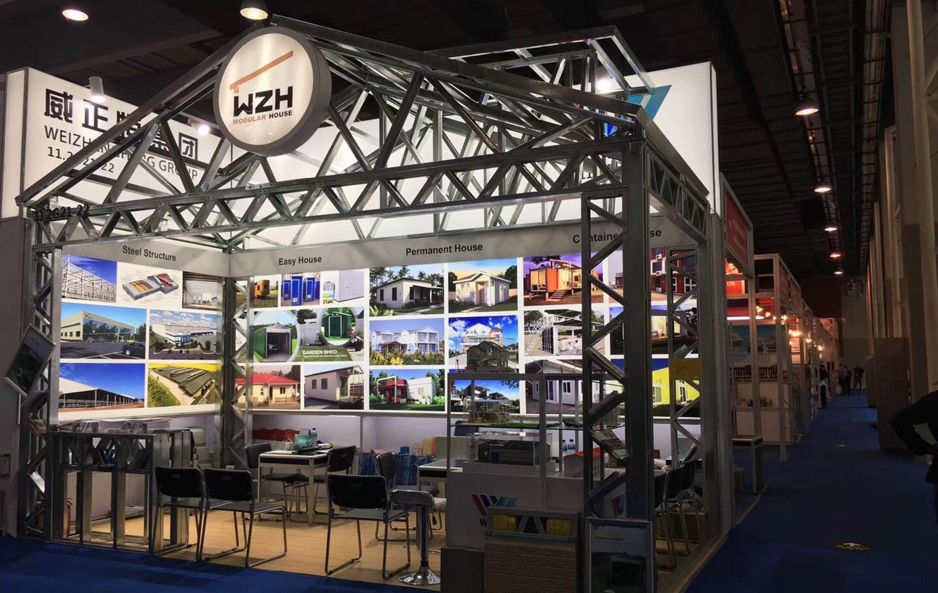Light steel structure booth