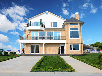Three Floors Light Steel Frame Club House Warranty 70 Years