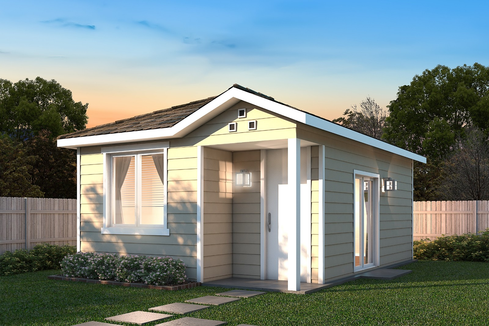37.8 m2 Affordable Prefab Tiny house
