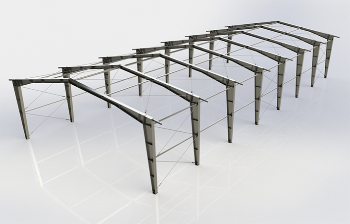 Steel warehouse structure design