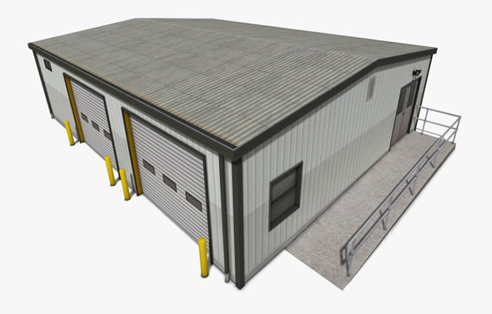 Low Cost Steel Frame Warehouse