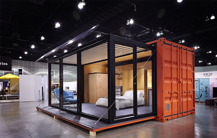 mobile container hotel room