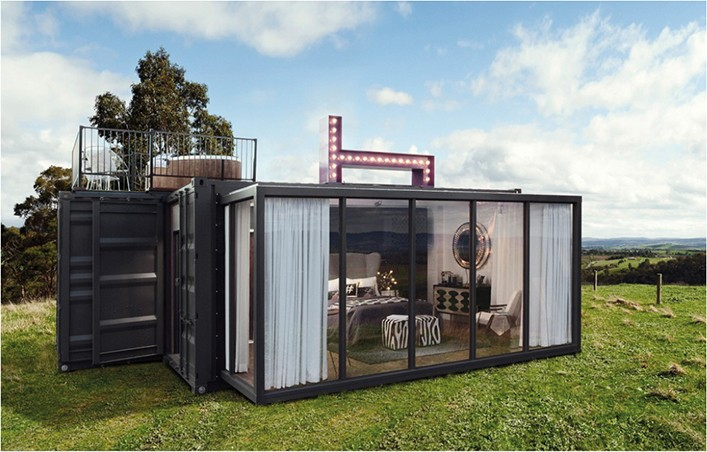 Holiday House container , Prefabricated modular shipping container homes