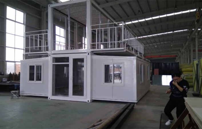 2 floor morden 20ft  expandable container house