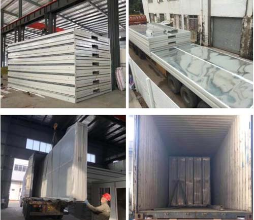 flat pack container house and steel structure warehouse