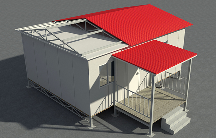 Modular Prefab House with Balcony