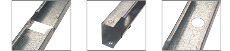 galvanized steel wall stud
