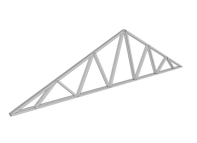 Galvanized Roof Truss Fast Assembled Steel Roof Truss Cold Formed Metal Roof Truss