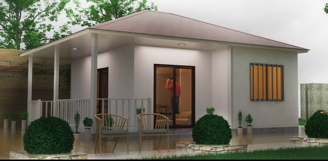 The Cement Foam House Is Made With Panel Which Of Galvanized Steel Concrete And