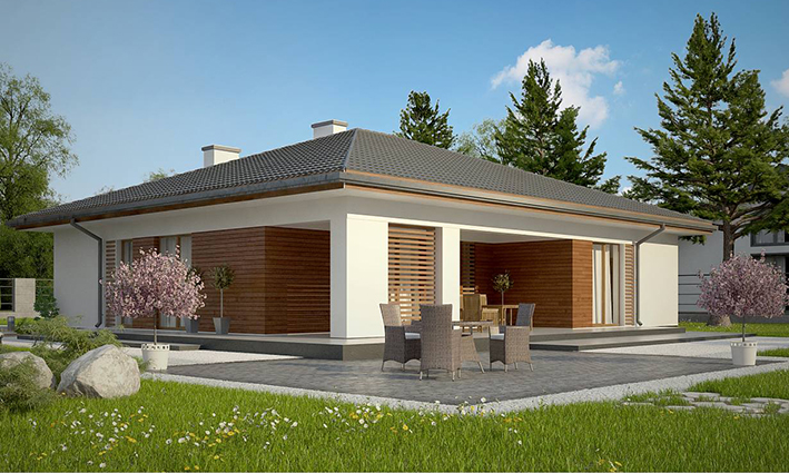 One storey family villa house