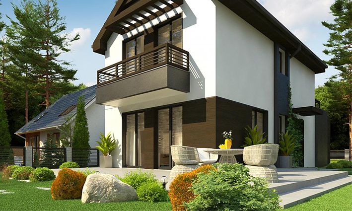 Two storeys resort and beach house